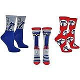Pete the Cat Socks Women & Girls (3 Pair) - PTC Adult Crew Socks - Fits Shoe Size: 4-10 (Ladies)
