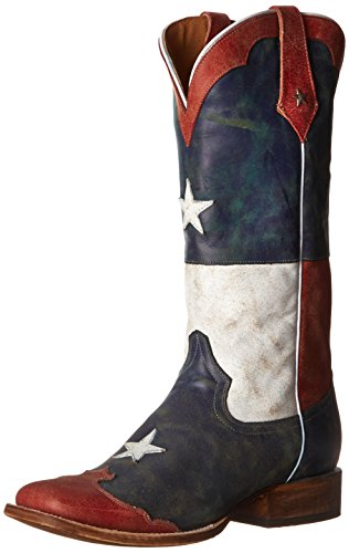 Roper Women's Star Flag Boot,Red/White/Blue,8 B US