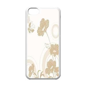 LJF phone case C-Y-F-CASE DIY Design Simple Flower Pattern Phone Case For phone Iphone 5C