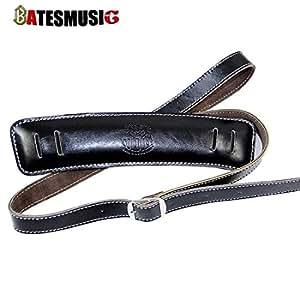 guitar strap solder shoulder padding superior leather rockabilly bass belt up to 61. Black Bedroom Furniture Sets. Home Design Ideas