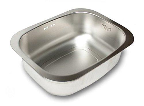 WANANG Stainless Steel Washing-up Bowl Multi-purpose Dish Tub for Sink/Wash Basins/Dishpan for (Stainless Steel Washbasin)