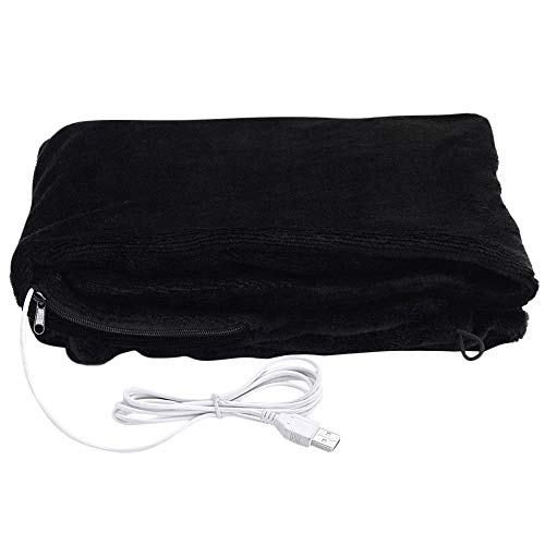 Price comparison product image FORESTIME USB Soft Heated Shawl 79x45cm Winter Electric Warming Neck Shoulder Heating Blanket Pad Wrap Electric Heating (Black,  79x45cm)