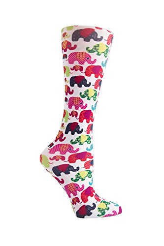 Cuteful Fun & Funky Therapeutic Graduated 8-15 mmHg Compression Socks (Lucky - Elephant Sock
