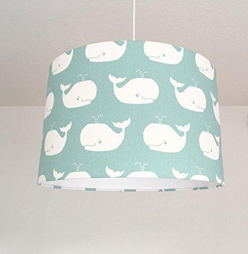 Lampe Kinderzimmer Lampenschirm Wale Turkis Amazon De Handmade