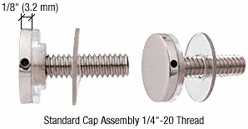 CRL Chrome Standoff Cap Assemblies for 3/4