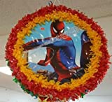 Spider Man Pinata With Pull String - Party Game & Candy Holder - Hand Made To Order