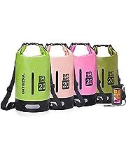 arteesol Dry Bag, 5L 10L 20L 30L Waterproof Dry Bag/Sack Waterproof Bag with Waterproof Phone Case Long Adjustable Strap for Kayaking Boat Tour Canoe, Fishing, Rafting, Swimming, Snowboarding