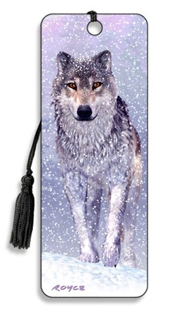3D Bookmark - Snow Wolf - Cheatwell Games from Artgame