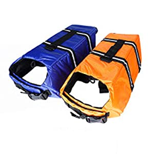 Pet Supplies Dog Life Jacket Summer Dog Costume Swimming Vest Dog's Clothes XL Click on image for further info.
