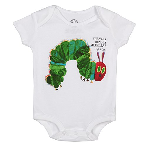 UPC 843653086386, Out of Print The Very Hungry Caterpillar Baby Romper - White (3-6 months)