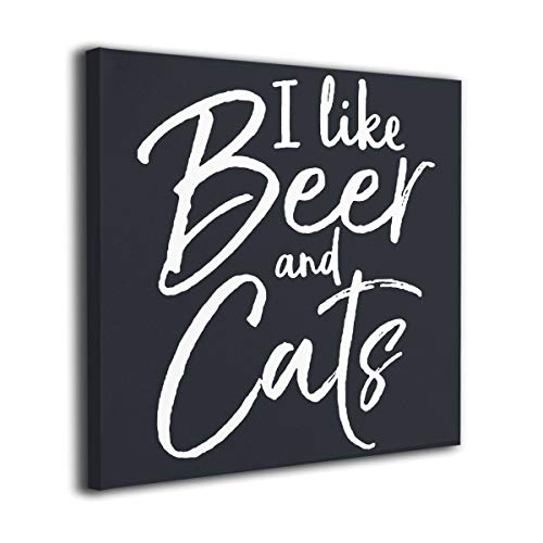 Hanging Decorations I Like Beer and Cats Wall Art Decor for Bedroom,Bathroom,Walkway,Living Room Ready to Hang