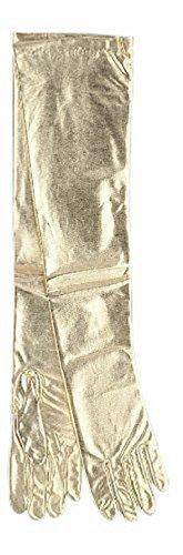 Lame Adult Gloves (Shoulder Length Gold Lame Gloves Adult Halloween Accessory)
