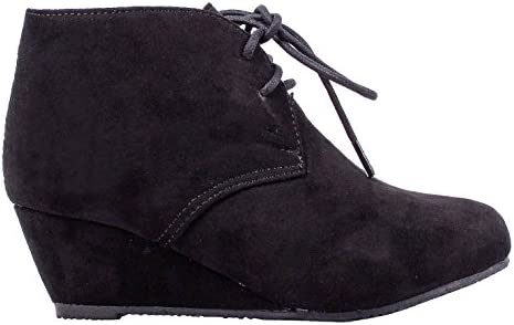 05175df6eb4 weyoh Fashion Faux Suede Lace up Girls High Heels Kids Ankle Boots Youth  Shoes Without Box