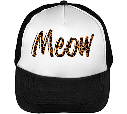 Gorras Snapback Meow Negro Beisbol Hombre Panther Fashioned Blanco fwTPIqEFx