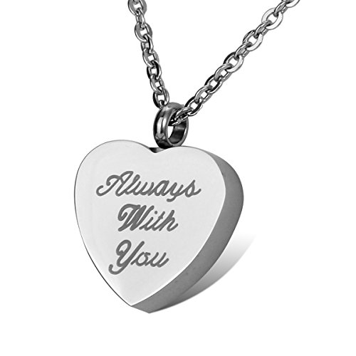 HOUSWEETY Stainless Capacity Necklace Cremation