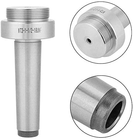 YIONGA CAIJINJIN Lathe Accessories Taper Collet Chuck Holder, MT3-M12 Taper Collet Chuck Holder CNC Milling Lathe Straight Tool Silver+Black Tool