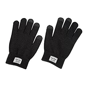 Unisex Men's Women's Knit Wool Touchscreen Texting Gloves for Smartphone iPhone iPad Winter Fleece Liner Warm Outdoor Sport Ski Cycling Driving Cold Weather Magic Touch Screen Gloves Mittens XMAS Gift Black, One Size