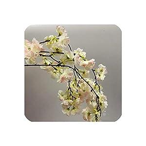 140Cm Natural Vertical Silk Cherry Blossom for Wedding Decoration DIY Cherry Trees Artificial Flower Bouquet,Pink