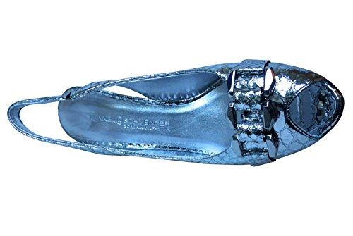 Kennel & Schmenger - Zapatos de tacón mujer Snakeskin Silver Mirror