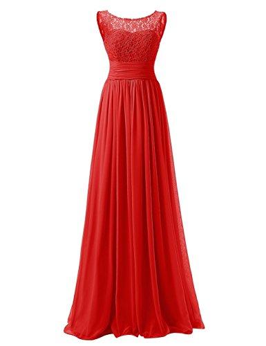 Paseo Dama Gasa Vestido De Noche Largo Rojo Cord¨®n Honor Vestidos Huini twPOq0wd