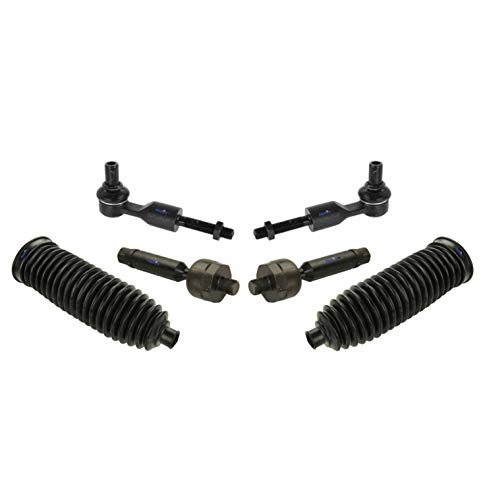 Passat Rod Tie Volkswagen (PartsW 6 Pc Front Steering Kit for A4 / A4 Quattro / A6 / A6 Quattro / A8 / A8 Quattro/Allroad Quattro / S8 / Passat/Rack and Pinion Bellow Boots, Tie Rod Linkages)