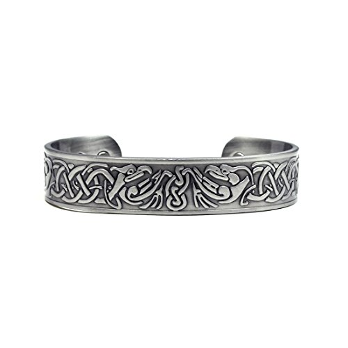 Magnetic Cuff (Accents Kingdom Silver-Tone Phoenix Magnetic Therapy Celtic Copper Cuff Golf Bracelet)