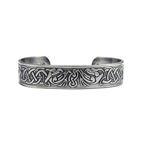 Cuff Magnetic (Accents Kingdom Silver-Tone Phoenix Magnetic Therapy Celtic Copper Cuff Golf Bracelet)