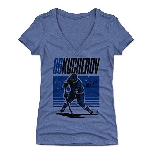 - 500 LEVEL Nikita Kucherov Women's V-Neck Shirt (X-Large, Tri Royal) - Tampa Bay Lightning Shirt for Women - Nikita Kucherov Starter B