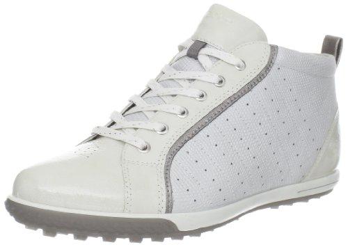 ECCO Women's Golf Street Bootie Golf Shoe,White/Steel,40 EU/9-9.5 M US ()