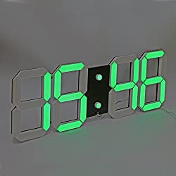 LambTown Large Display Led Wall Clock with Remote Control Countdown Count Up Led Clock Timer with Temperature Date 6'' Green Led Digits Highly Visible for Home Gyms Church Sports Event
