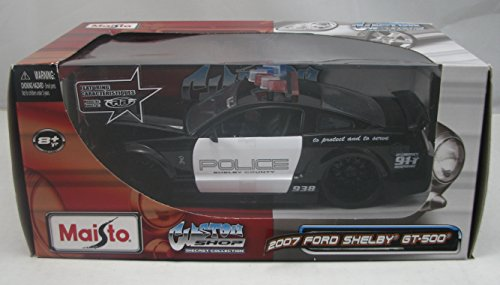Maisto Custom Shop 2007 Ford Shelby GT-500 1:24 Scale Police Vehicle