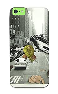 Iphone 5c Hard Back With Bumper Silicone Gel Tpu Case Cover 3d Piderman V Hulk By Kronical