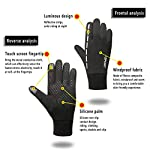 Leber Running Gloves Touch Screen for Men and Women Waterproof and Winter Warm Perfect Bike Riding Motorcycle Running Mountaineering Driving Outdoor Accessories