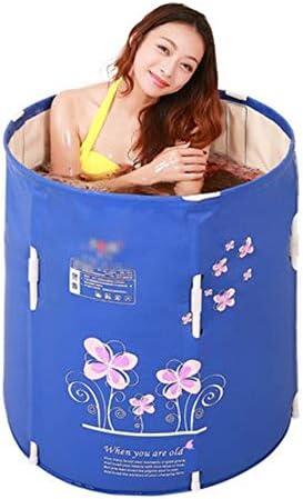 大人用折りたたみ式バスタブ子供用プール家庭用浴槽厚い断熱材,Blue-70*70cm