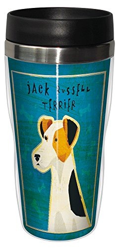 Tree-Free Greetings sg23986 Jack Russell Terrier by John W. Golden 16-Ounce Sip 'N Go Stainless Steel Lined Travel (Big Jack Russell Terrier)