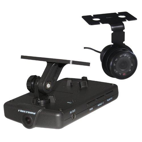 FIRSTCOM(ファーストコム) 100万画素/30万画素2カメラ ドライブレコーダー FC-DR202W B00CDI7TD8