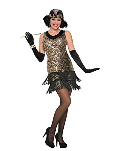 Forum Novelties Women's Roaring 20's Flapper Costume, Multi Color, X-Small/Small]()