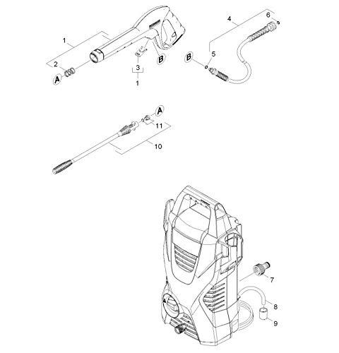 360 L//h 1.673-159.0 1400 W K/ärcher K2 Basic Hidrolimpiadora de alta presi/ón para exteriores 110 bar