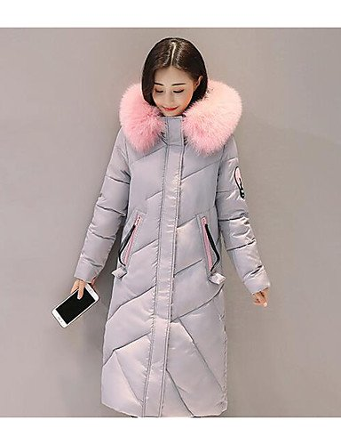 Décontractée Simple Polypropylène Blanc Une Tenue Pour Quotidienne Long Manteau Couleur Femme Yameijia Polyester awAYInq1