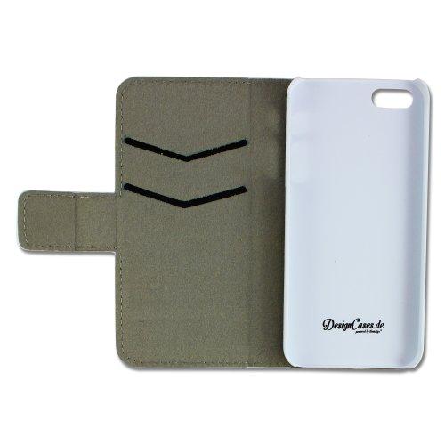 Apple iPhone 5 5S Kunstleder Cupcakes Design Flip Schutz-Hülle Case Flip Tasche Cover thematys®