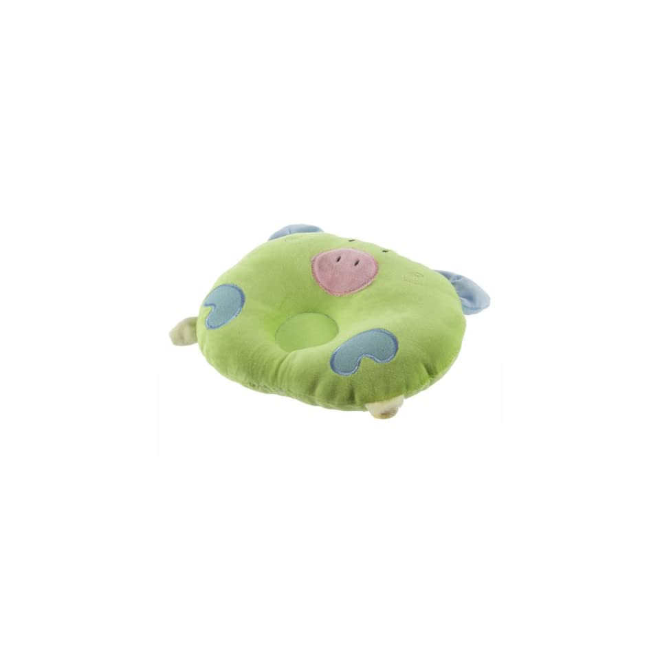 MECO(TM) Pig Head Shape Soft Cotton Toddler Infant Baby Pillow (Green)