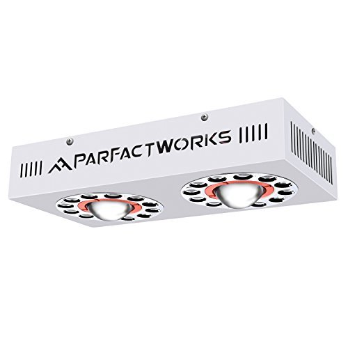 PARFACTWORKS 320W LED Grow Light, COB & 5W Daylight Full Spectrum Including UV&IR for Indoor Gardens Hydroponics All Plant Grow Phases