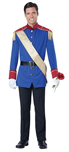 [POPLife Storybook Prince Charming King Adult Costume] (Storybook Prince Adult Mens Costumes)