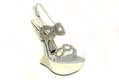 20 Sandales SKO'S pour D78 femme Silver nqBxw4Hfv