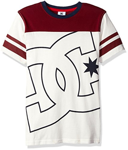 DC Apparel Big Boys Fade Out Block Short Sleeve Crew Neck Tee, Antique/White, Medium (Dc Clothing For Kids compare prices)