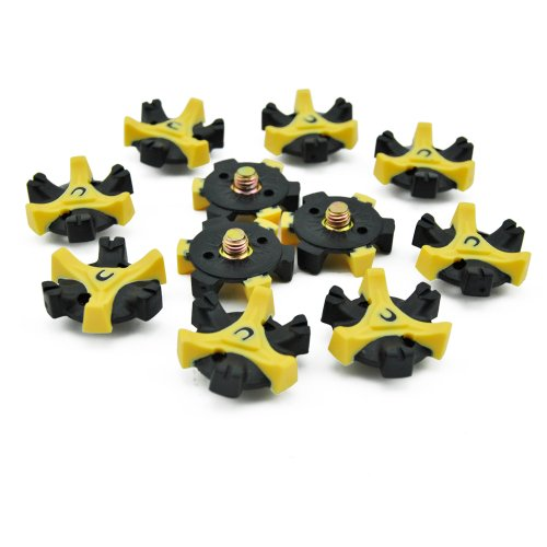 Yiding 10pcs Golf Cleats Champ Tri-lok Shoe Spike Screw Studs Spikes Stinger Tool
