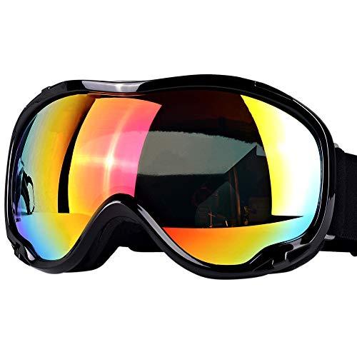 TBoonor 스키 고글 스노 보드 고글 UV400 자외선 컷 내충격 방진 방풍 방설 눈(째)가 피곤해져 어려운 등산/스키/오토바이/아웃도어 스포츠에 전면 적용 남녀 겸용 (블랙)