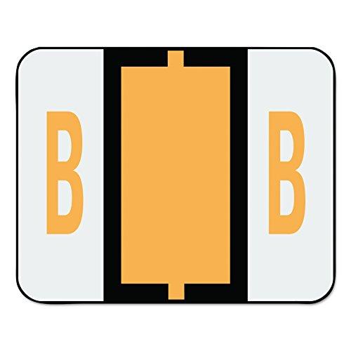 Smead BCCR Bar-Style Alphabetic Color-Coded Labels, Letter B, Light Orange, 500 Labels per Roll (67072)