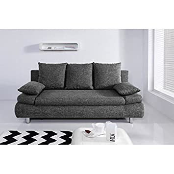 Naho canapé fixe ou convertible 3 places 205x97 cm - gris: Amazon ...
