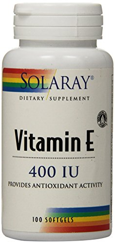 400 Iu 100 Softgel Capsules - Solaray E D-Alpha Tocopherol Capsules, 100 Count
